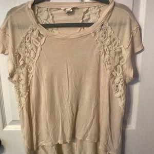 Tan lace shirt